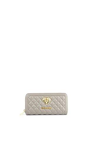 Love Moschino Woman Wallet Zip Around Quilted Grey