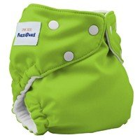 Fuzzibunz One Size Diaper, Apple Green, 7-35 Pounds
