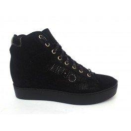 LIU JO SNEAKER ZEPPA CAFFE S66031 P0257 sneakers donna - Nero, EUR 38