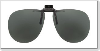 Polarized Clip-on Flip-up Aviator Sunglasses