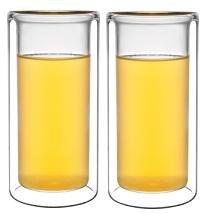 Sun's Tea (TM) 8oz Strong Double-wall Thermo lemonade/ice tea/coffee/juice/milk/cocktail Glasses, Set of 2
