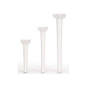 Wilton 303-3712 4-Pack Grecian Spiked Pillars for Cakes, 9-Inch