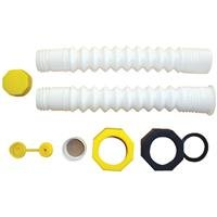 """Replacement Spout - Water Jug Or Gas Can Spout - Deluxe Hi-Flo System With 8"""" Extension front-96038"""