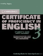 Cambridge Certificate of Proficiency in English 3 Student's Book with Answers: Examination Papers from University of Cambridge ESOL Examinations