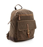 Pure Cotton Waxed Rucksack