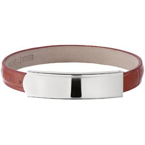 Stainless Steel Amalfi Stainless Steel and Leather ID Bracelet