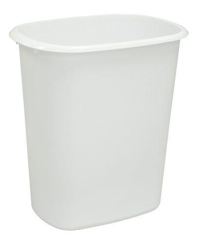 United Solutions WB0034 White Forty Quart Indoor Wastebasket - 40QT Plastic Trash/Refuse Can for Office, Home or Dorm Room in White (Trash Can 17 Inch compare prices)