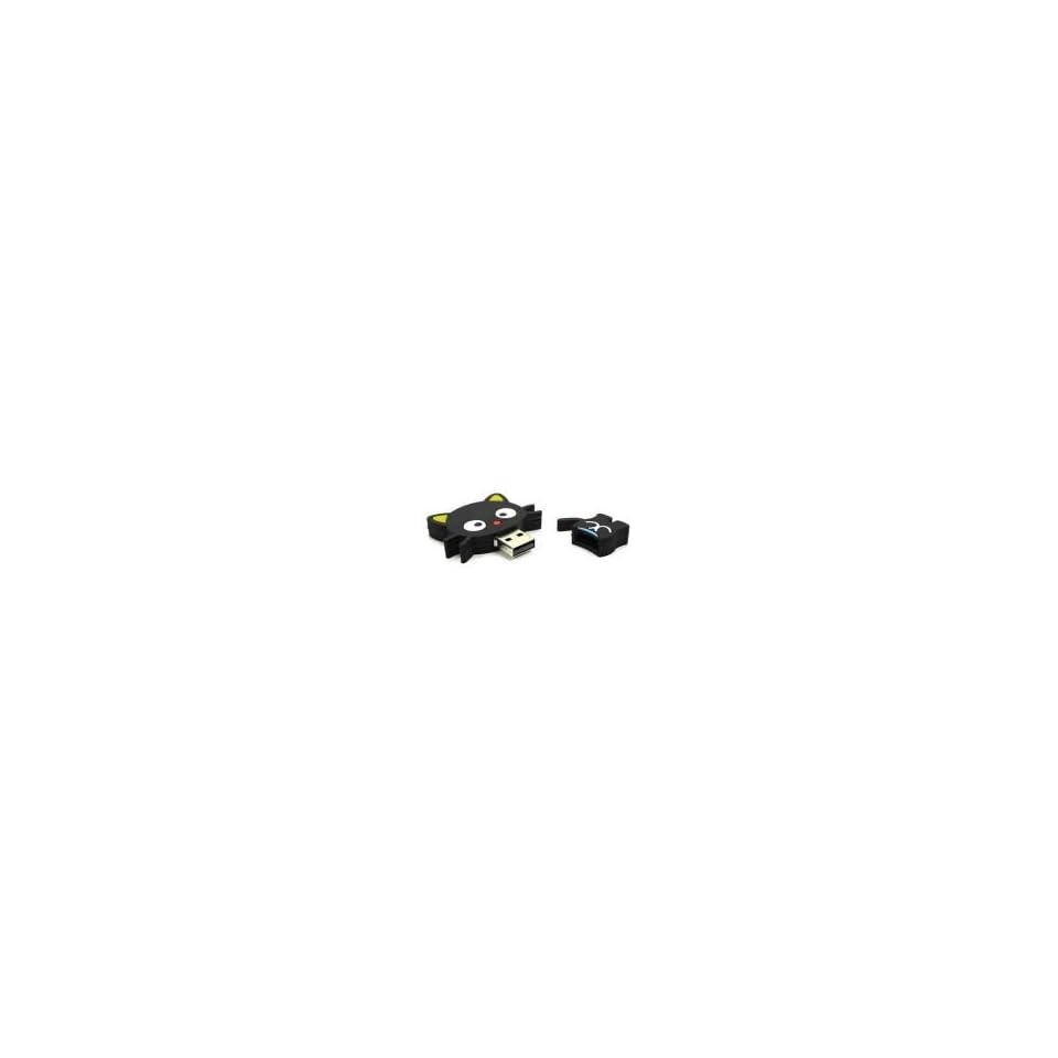 8GB Cat Shaped Cartoon USB Flash Drive Black