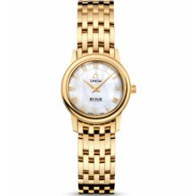 Omega De Ville Prestige Mother of Pearl Yellow Gold Ladies Watch 4170.71