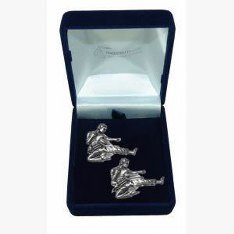 Pewter Karate Martial Arts Cufflinks Gift, Wedding, Best Man, Usher