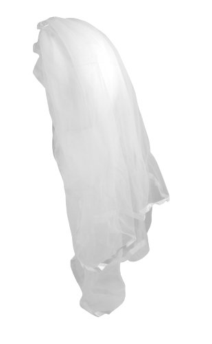 Lace Party Veil, White