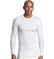 Crew Neck Long Sleeve Thermal Vest
