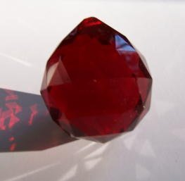 Coco Digital 40mm Large Red Crystal Glass Chandelier Lamp Prism Window Hanging Ball from Coco Digital