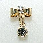 Jewelry Nail プリティネイル チャーミングリボンー1 チャーム ゴールド PNー0306G