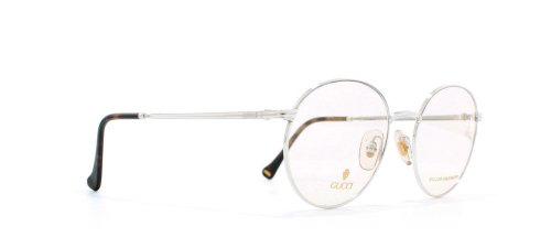 Gucci 1273 02K Silver and Brown Authentic Men - Women Vintage Eyeglasses Frame 4