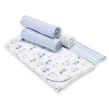 Gerber 5-pack Flannel Receiving Blankets - Blue - 1