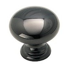 Amerock 1-1/4-Inch Diameter Solid Brass Knob, Black Nickel #BP1950-BNB