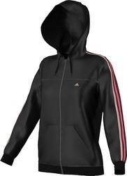 Adidas Giacca Allenamento Donna 3-Stripes Essentials - Nero/Lampone, Xs