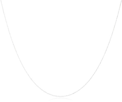 14K White Gold Light Rope Chain Necklace, 18""