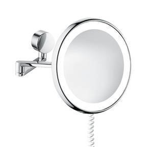 SAM, Specchio da trucco rotondo con illuminazione, cromato, 5503724010
