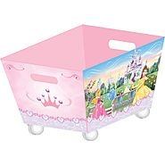 Disney Princess Fabric Rolling Toy Box - 1