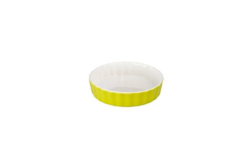 BIA Cordon Bleu Round 6-Ounce Quiche/ Brulee, 2 Tone, Set of 4, Chartreuse Green