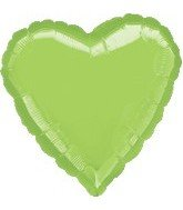 "Anagram International Heart Foil-Flat-Balloon, 32"", Lime"