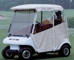 Enclosure, 3 Sided No Velcro, For Club Car 1993-1999 With Factory Top, Ivory front-432129