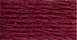 DMC Pearl Cotton Skeins Size 5 27.3 Yards Dark Garnet 115 5-814; 12 Items/Order