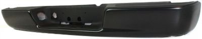 Evan-Fischer EVA17472032869 Step Bumper Rear Steel Painted - black With 4 brackets holes for license light and plate (2008 Dodge Ram Bumper compare prices)