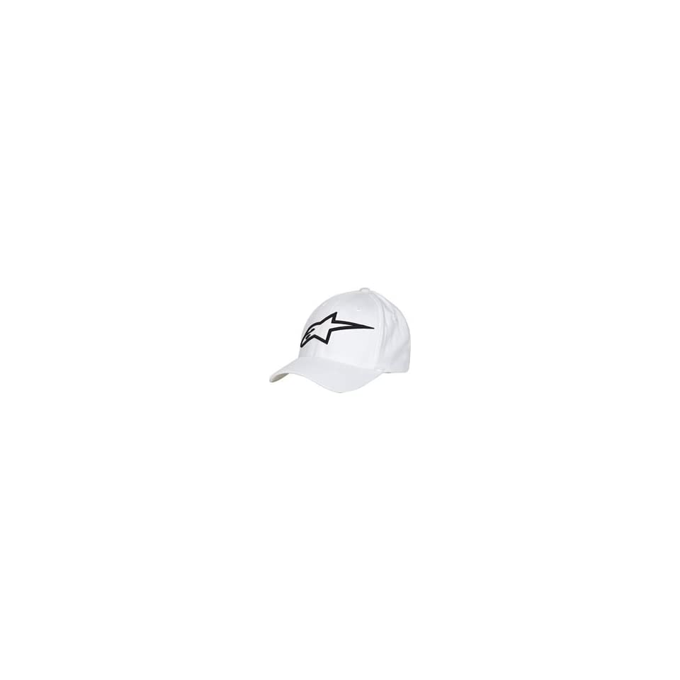 Alpinestars Logo Astar Flexfit Hat Small Medium White Black on PopScreen 652b7578cd68