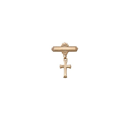 Children's 14k Gold Filled Christening Pin with Cross