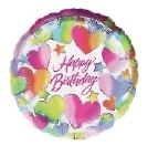 誕生日バルーン 「スパークルハート」ヘリウム入り