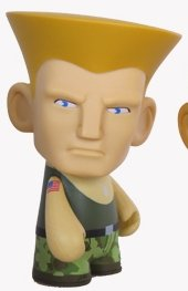 Street Fighter Guile Collectible Mini Figure By Kidrobot - Green - 1