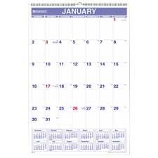 Monthly Wall Calendar,15-1/2
