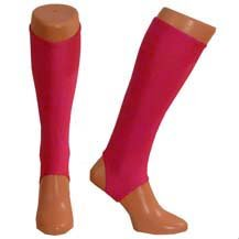Adult hockey shin pad inner sock (Cerise Pink, Adult)