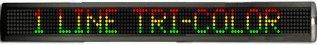 Single-Line Indoor Tri-Color Led Sign, 7X160 Matrix