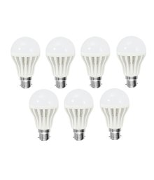 8W LED Bulbs (White, Pack of 7)