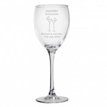 Personalised Wedding Guest Wine Glass