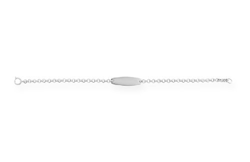 Sterling Silver Children's Oval ID Bracelet, 6.25