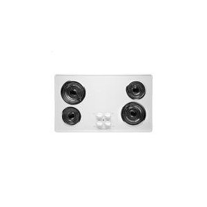 36 In. Coil Top Electric Cooktop - White