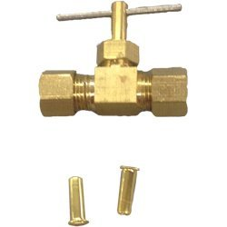 Dial 9404 Straight Compression Needle/In-Line Water Shut-Off Valve (Water Cooler In Line compare prices)