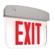 Utilitech Red Led Edge-Lit Exit Sign With Battery Backup