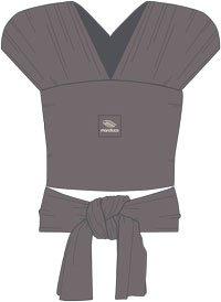 manduca SLING - das elastisches Babytragetuch (slate)