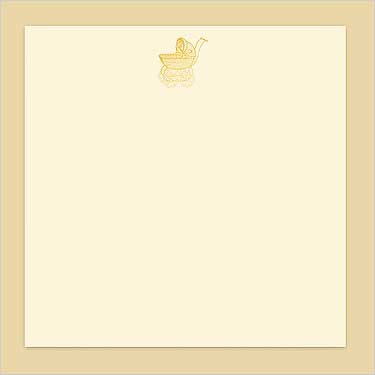 Hallmark- Gold Stroller Overlay-Invitations & Announcements