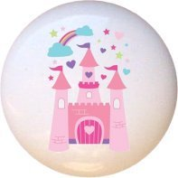 Ceramic Knob - Castle #016 - Fairytale Princess (Princess Crown Drawer Knobs compare prices)