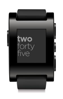 Pebble Steel black smartwatch front