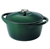 Tramontina 6.5 Qt. Cast Iron Dutch Oven Casserole Dish with Stainless Steel Handle - Hunter Green