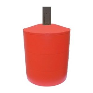 Pole Cover, 3 Ring, 6In Square, Red mercury slip ring 1 pole 50a