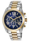 Michael Kors Men's Bradshaw 44mm Chronograph Gold-Tone Dial Steel Bracelet & Case Quartz Date Watch MK5976